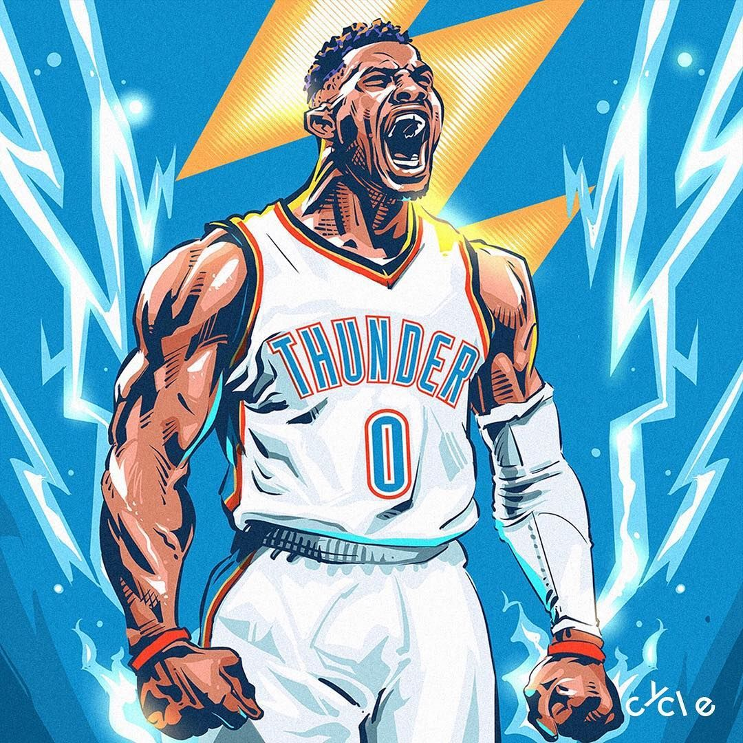 Russell Westbrook Gets His 108th Career Triple Double Passing Jason Kidd For 3rd All Time Westbrook Wallpapers Mvp Basketball Nba Art