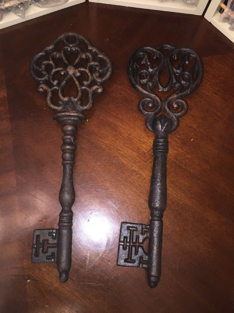 Skeleton Key Large Decorative Wall Decor Rustic Home Style Cast Iron