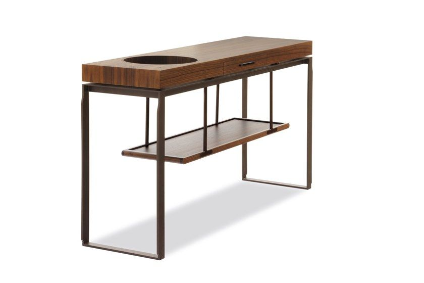 Consolle rettangolare in legno con cassetti AEI Consolle