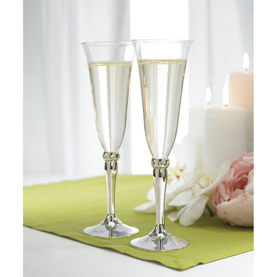 Crystal Band Goblets [WR8435 Toasting Goblets] : Wholesale Wedding ...