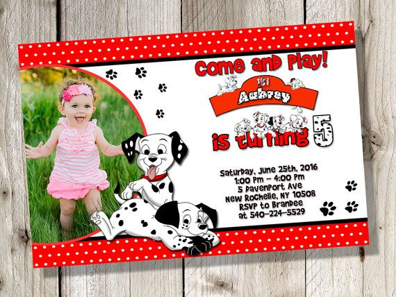 101 Dalmatians Invitation 101 Dalmatians Birthday by FirstTrendy