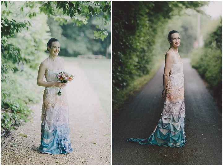 Homemade Wedding With A Rainbow Wedding Dress By Scuffins - Homemade Wedding Dress