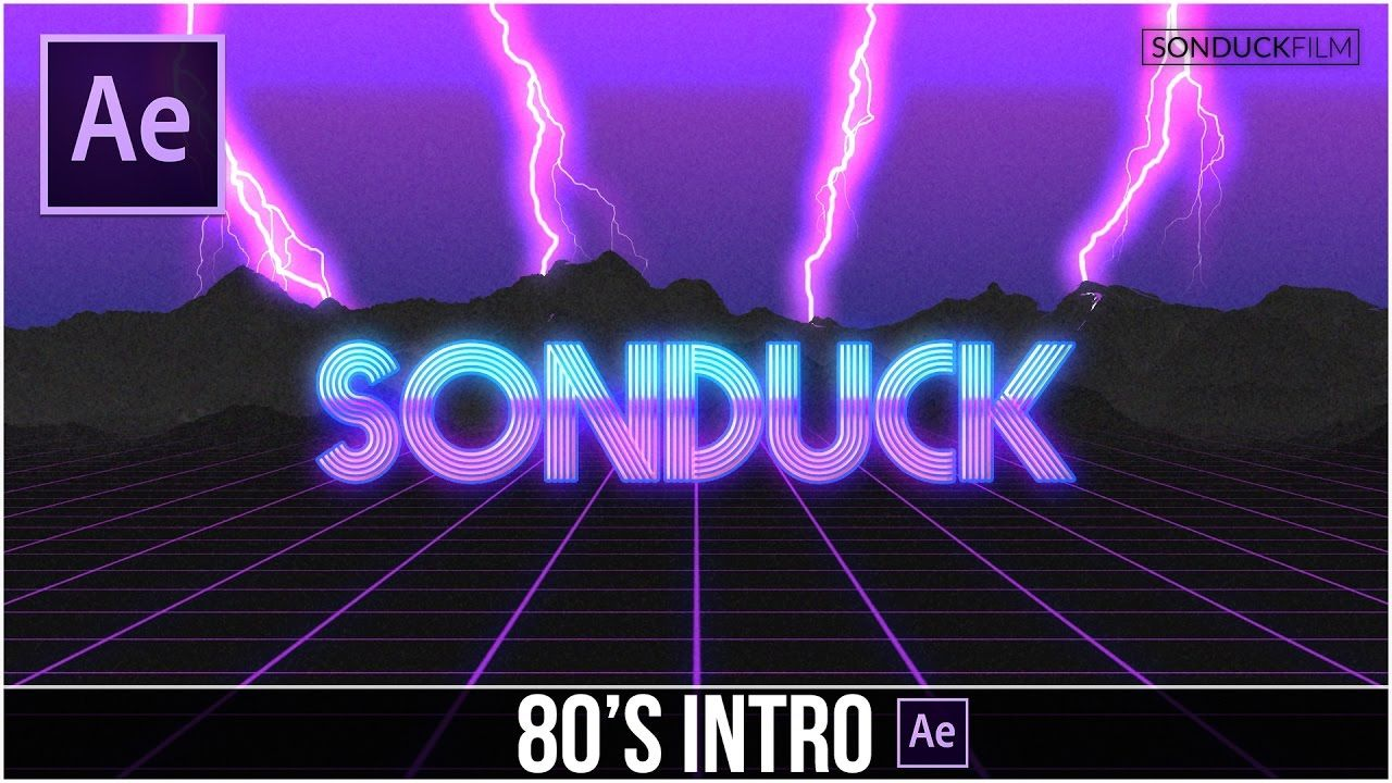 After effects tutorial 80s style retro intro adobe after after effects tutorial 80s style retro intro baditri Images
