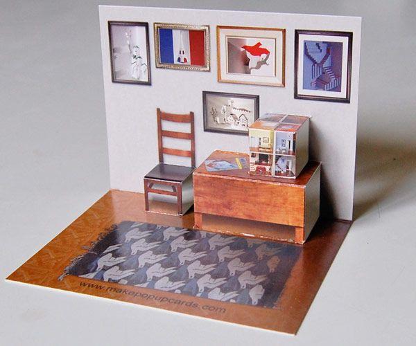 Diy pop up card house
