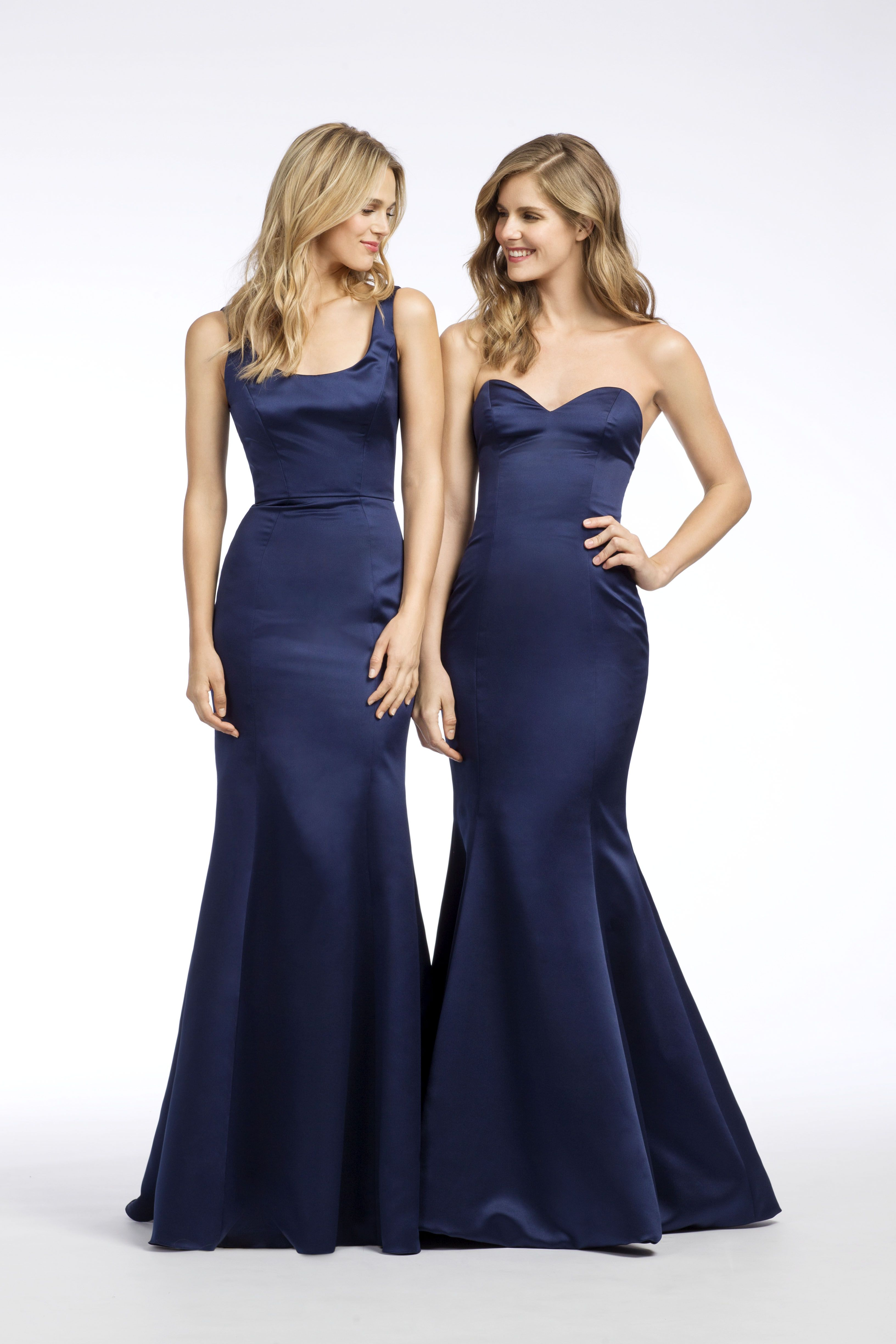 Styles 5667   5668 in Indigo satin - Long dress  bridesmaid  bridesmaids   bridalparty  longdresses  hayleypaigeoccasions  jlmcouture  hayleypaige    ... cca8f02bc48b