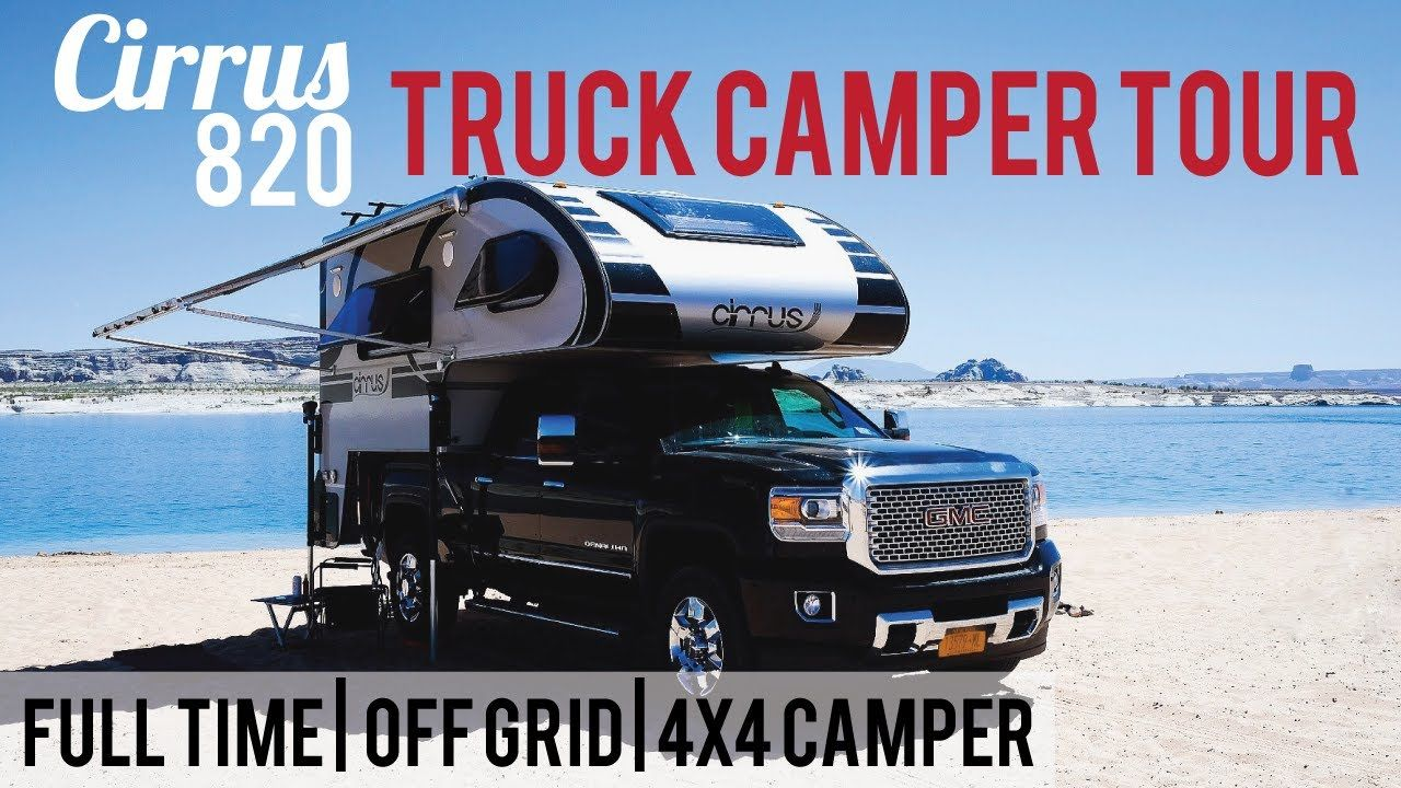 Off Grid Full Timing Couple S Truck Camper Tour Review Of