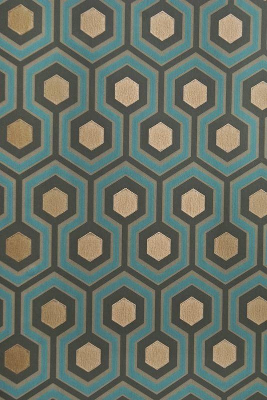 hicks 39 hexagon wallpaper papier peint peindre et carelage. Black Bedroom Furniture Sets. Home Design Ideas