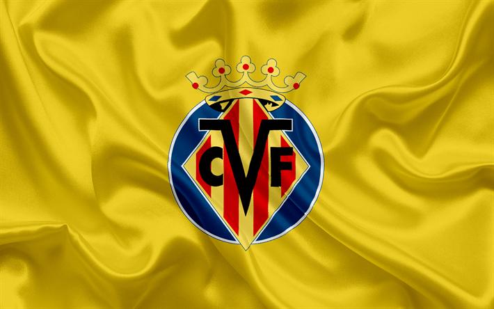 Download wallpapers Villarreal FC, professional football club, emblem, logo, La Liga, Villarreal, Spain, LFP, Spanish Football Championships