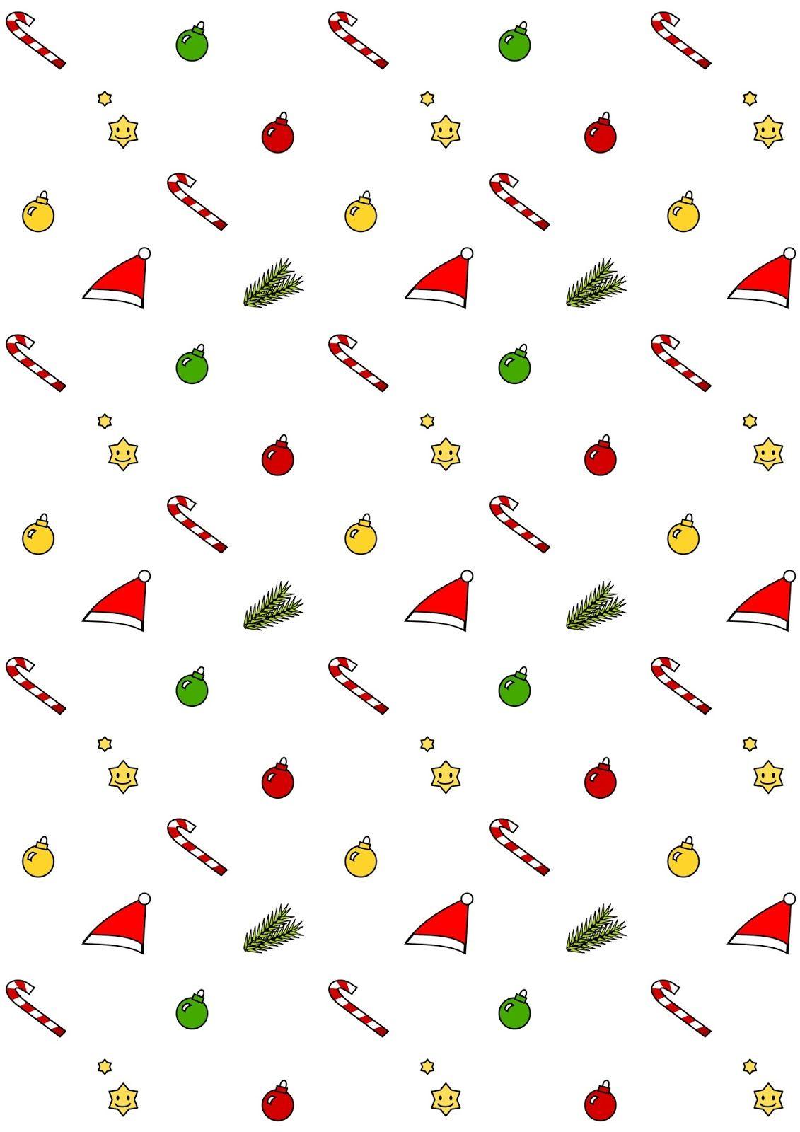 Scrapbook paper kawaii - Free Printable Christmas Pattern Paper Kawaii Christmas By Meinlilapark
