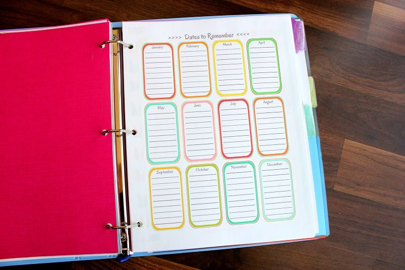Free Day Planner Printables to Organize Your Schedule Places to - bill organizer chart