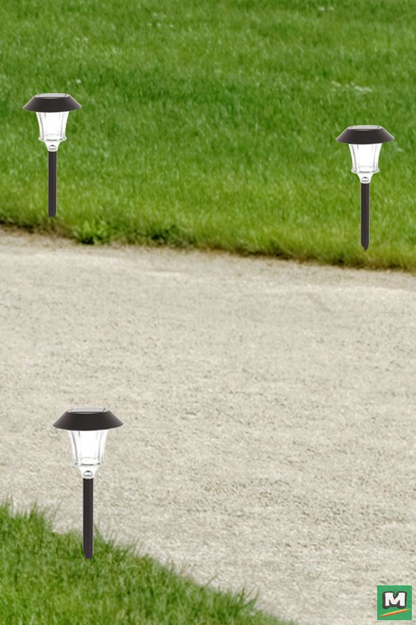 Patriot Lighting Lindon Solar Led Path Light With Bronze Finish And Clear Ribbed Glass Solar Landscape Lighting Landscape Lighting Solar Path Lights