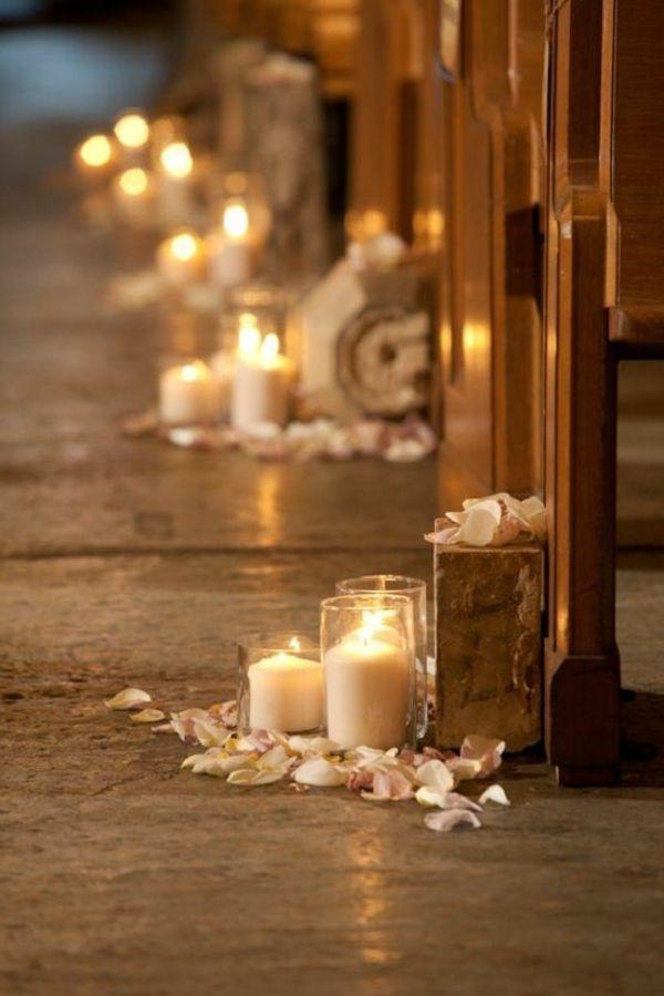 Hochzeitskerzen - romantische warme Licht ! - Archzine.net