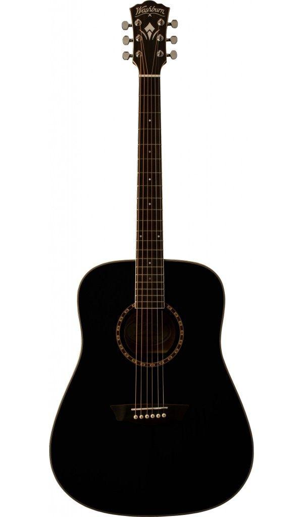 Washburn Acoustic Black Washburn Acoustic Guitar Washburn Guitars
