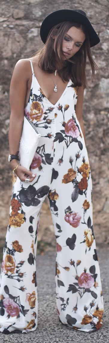 Ashanti Brazil White Multi Tropical Print Wide Leg Cami Jumpsuit