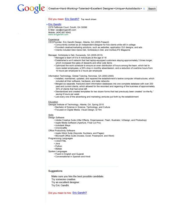 Ever seen a Facebook resume? Talk about creativity! Unique - google docs resume builder