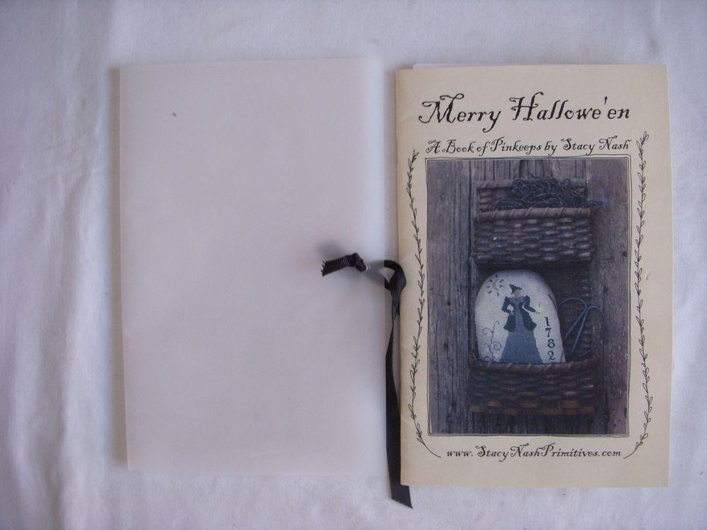 "Stacy Nash Primitives ""Merry Hallowe'En"" Pinkeeps Cross Stitch Charts NIP | eBay"