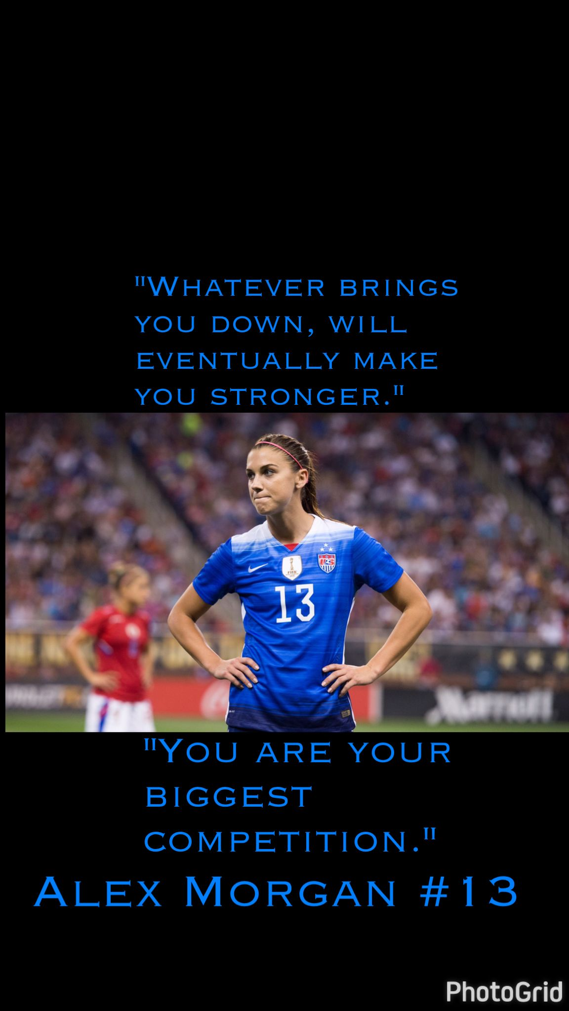 Alex Morgan Quote Wallpaper Soccer Quotes Inspirational Soccer Quotes Alex Morgan Soccer