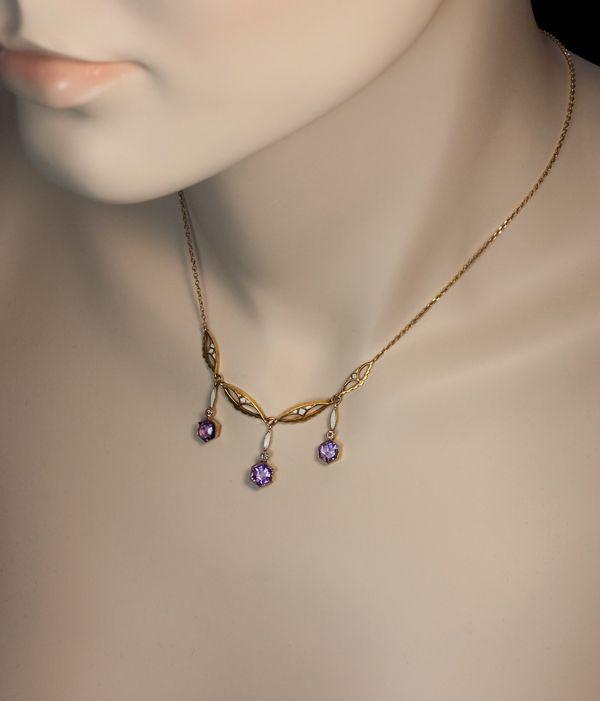 Vintage amethyst jewelry
