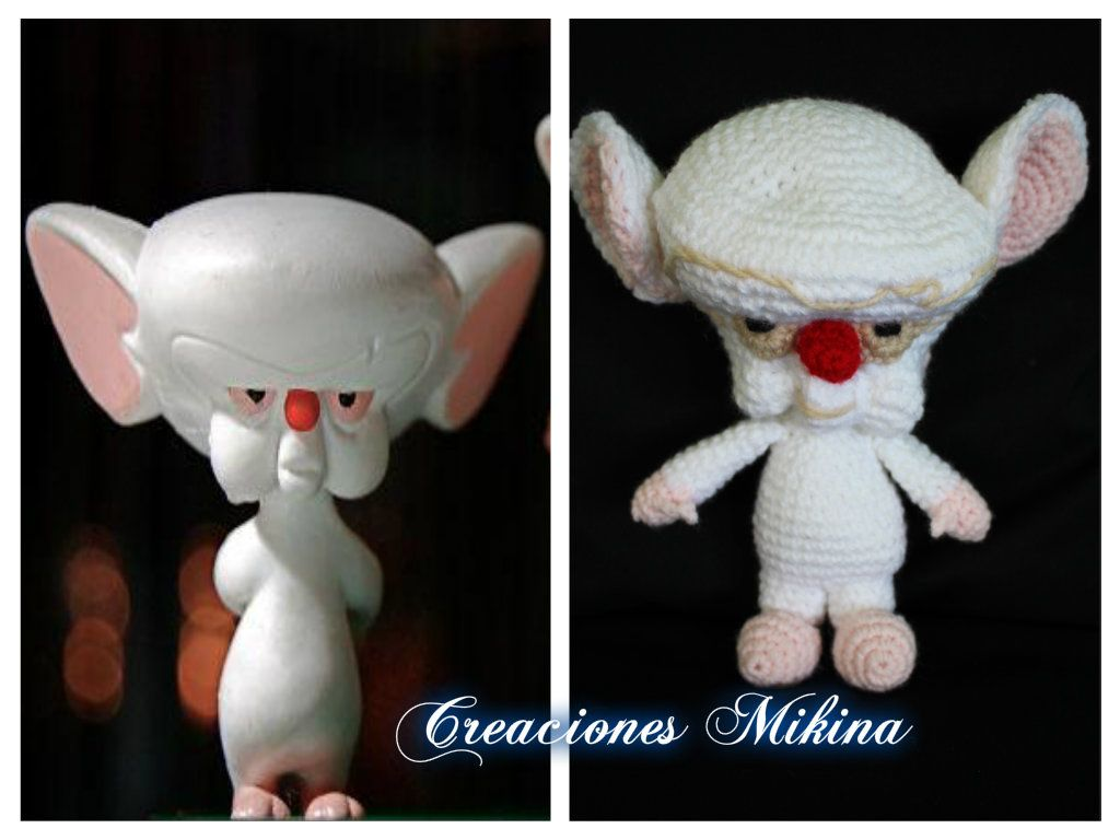 Pinky y Cerebro...Pinky and the Brain | Mis trabajitos en Crochet ...