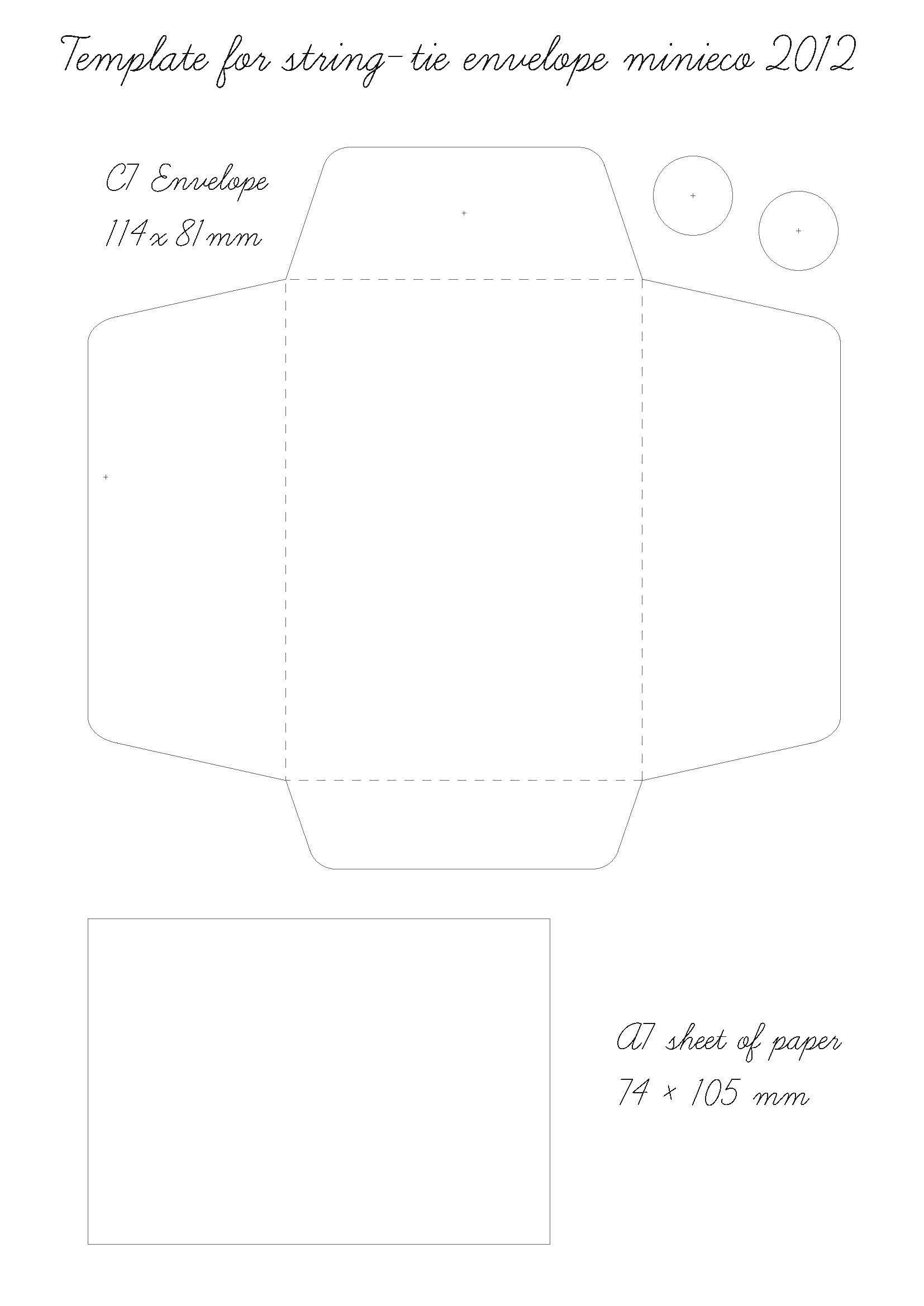 string tie envelope template 07 crafts pinterest envelopes