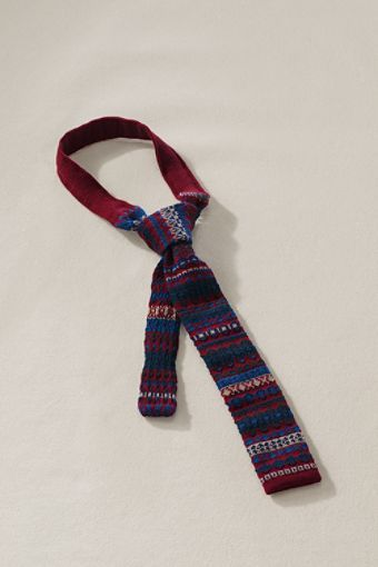 Lands' End Canvas Men's Fair Isle Tie $79.50 | Lands' End Canvas ...