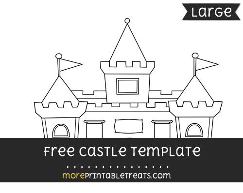 Fantastic Free Castle Template Large Princess Theme Printables Download Free Architecture Designs Scobabritishbridgeorg