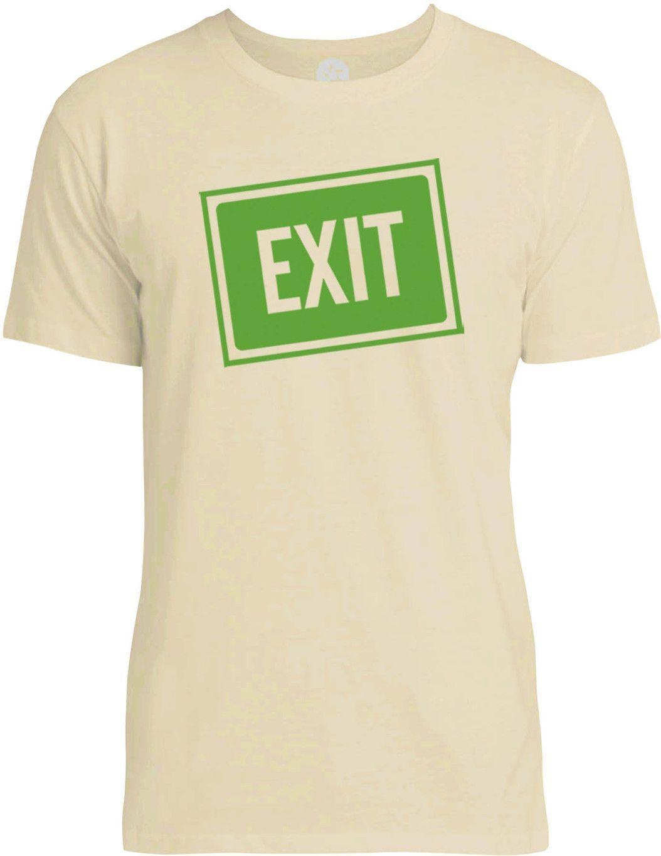 Exit Sign (Green) Mens Fine Jersey T-Shirt