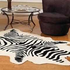 Zebra Skin Rug Faux Fur