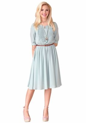 d2d6b9a32d383 Wardrobe must-have! Simple, elegant & tasteful. Clara Modest Dress in Sage