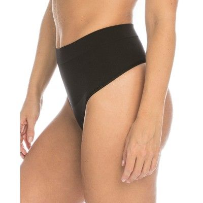 1b40a3915a Assets by Spanx Women s All Around Smoothers Thong - Black XL ...
