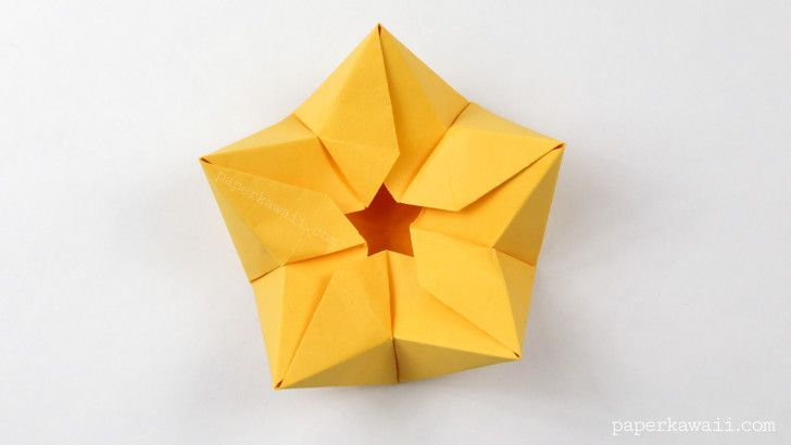 Origami Star Flower Crown Bowl Tutorial Origami Origami
