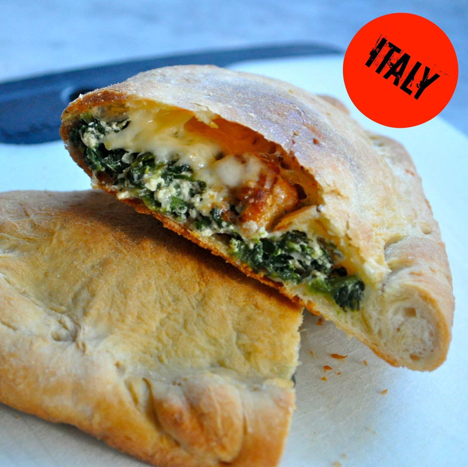 Homemade Calzones - with store bought pizza dough and any fillings you love!