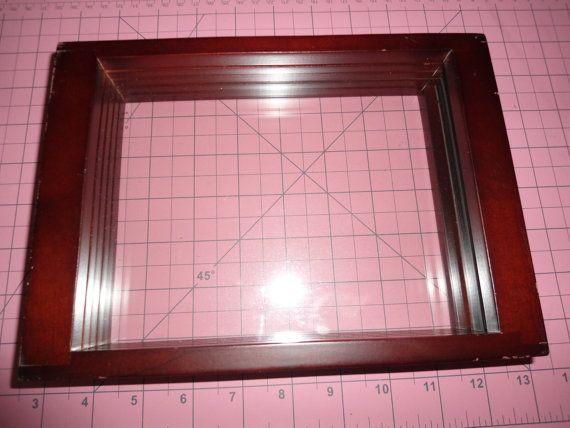 Vintage Infinity Frame Multi Frame Cherry Wood Frame Wall   Design ...
