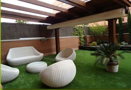 Terraza moderna terrace pinterest salons patios and for Terrazas modernas