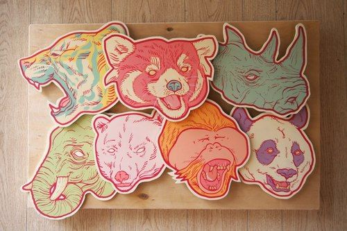 Check out this commission piece Boy Kongjust finished. Animals oh my! Via MoreThanSunshine.com