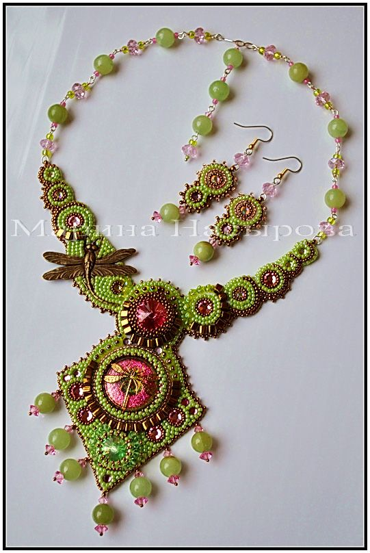 Beautiful embroidered jewellery by Marina Nasyrova - Marina Nasyrova'dan farklı fikirler