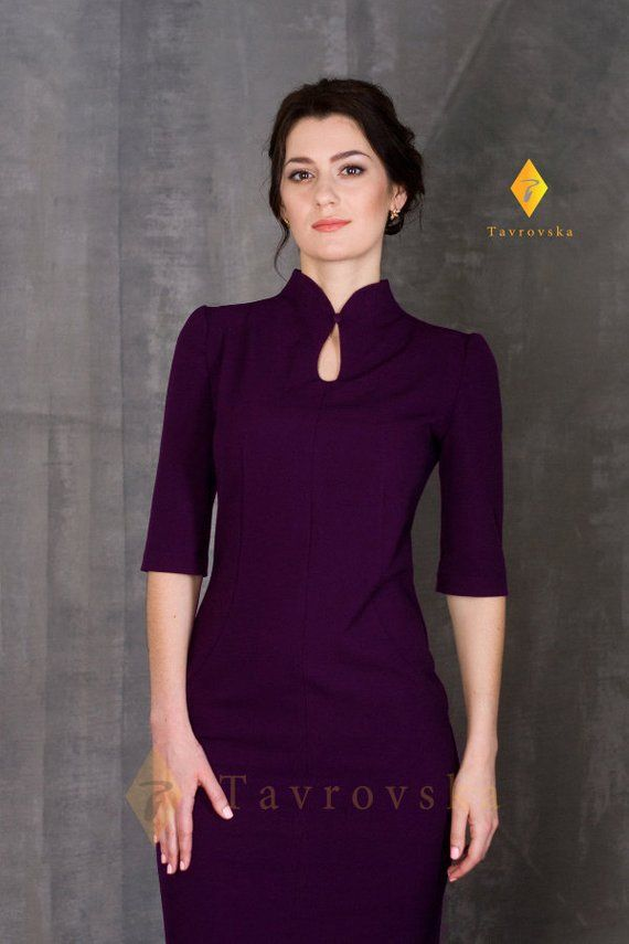 Purple Pencil Dress by TAVROVSKA 3d71453aba62