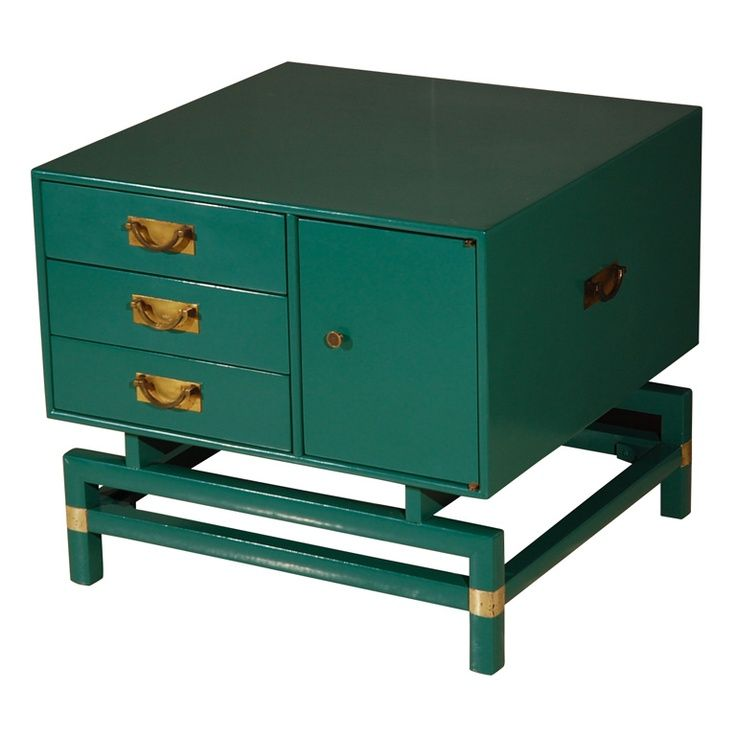 Single Lacquered Chest By Angelus Furniture