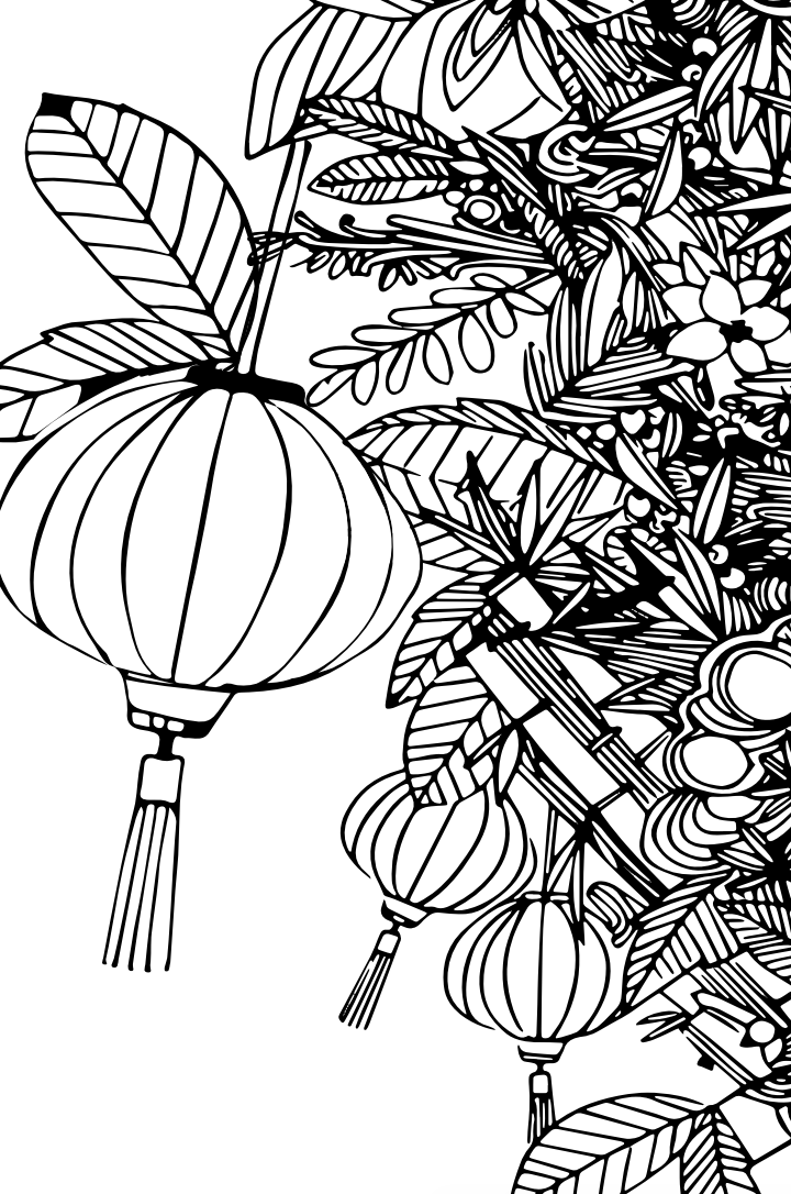 Download this coloring sheet, color it and post on Instagram for your chance to win a Red Envelope from Origins USA.