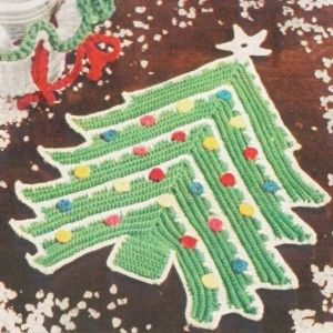 Christmas Tree Potholder Free Crochet Pattern Mb Christmas Crochet Patterns Crochet Christmas Trees Potholder Patterns