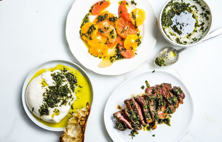 Fried Herb Salsa Verde  This all-star topper can gussy up anything: steak, roasted potatoes—even a citrus salad.