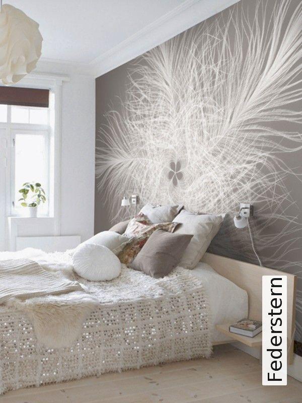 Federstern | Fototapete, Schlafzimmer und Tapeten