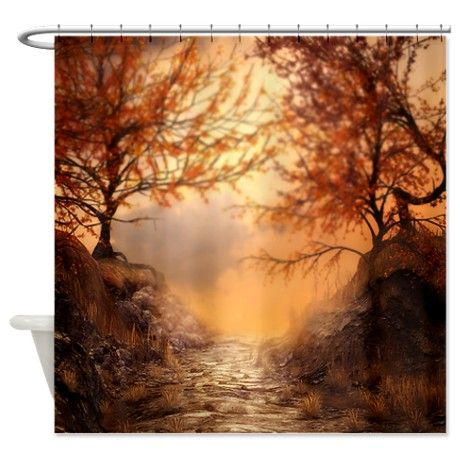 Autumn Shower Curtain By Tumbling Turtles Landscape Cool Shower