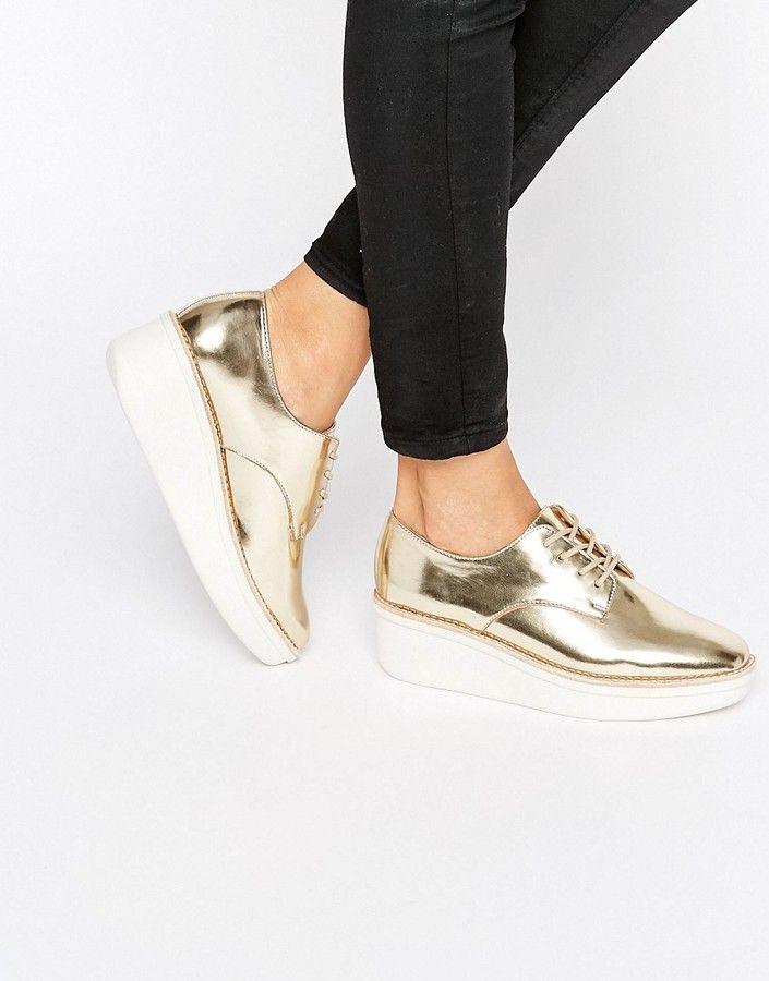 ALDO Rivale Metallic Chunky Flat Shoes  f20efdd761f