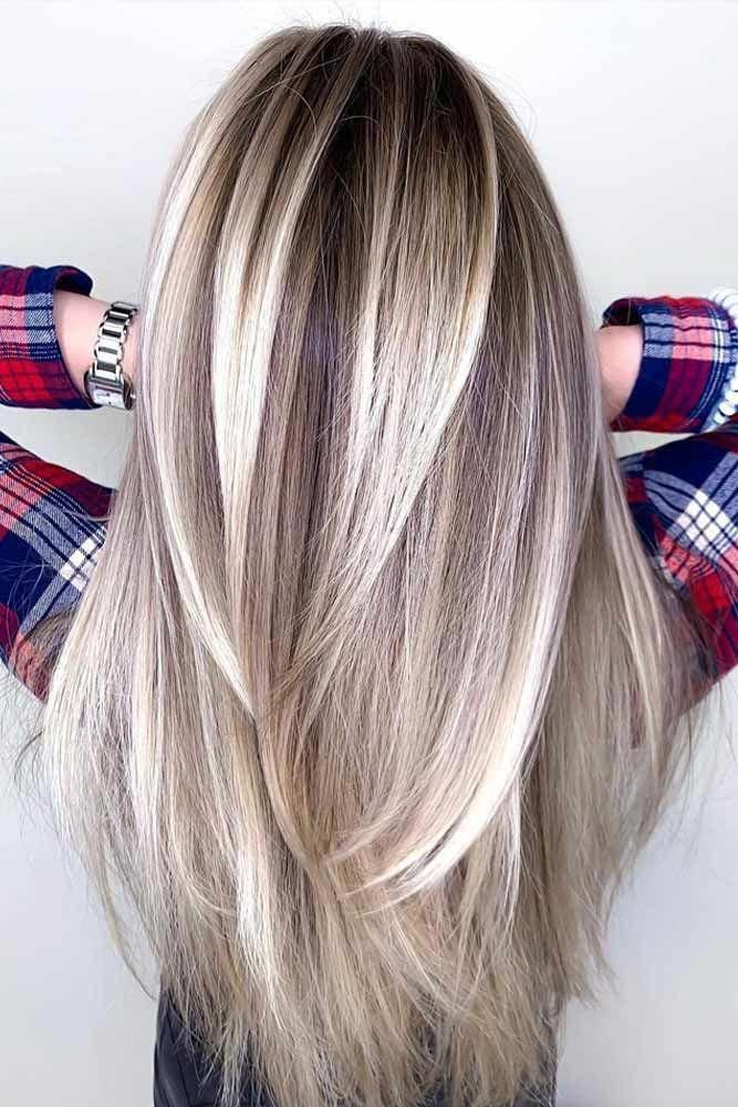 Long Straight Layers #haircuts #faceshape ️ There are a ton of cute haircu… in 2020 | Haircuts ...