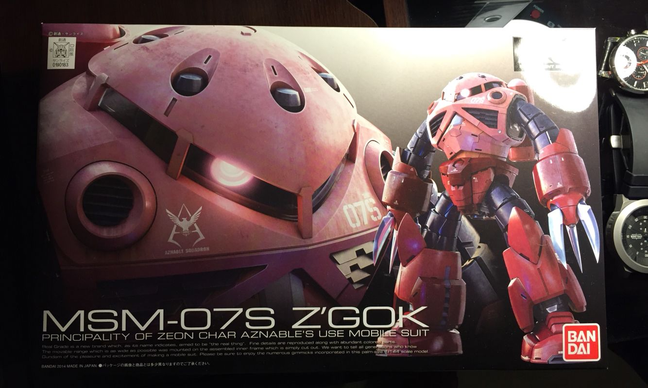 Z'gok RG ¡Mi primer kit Real Grade! Gundam, Gundam