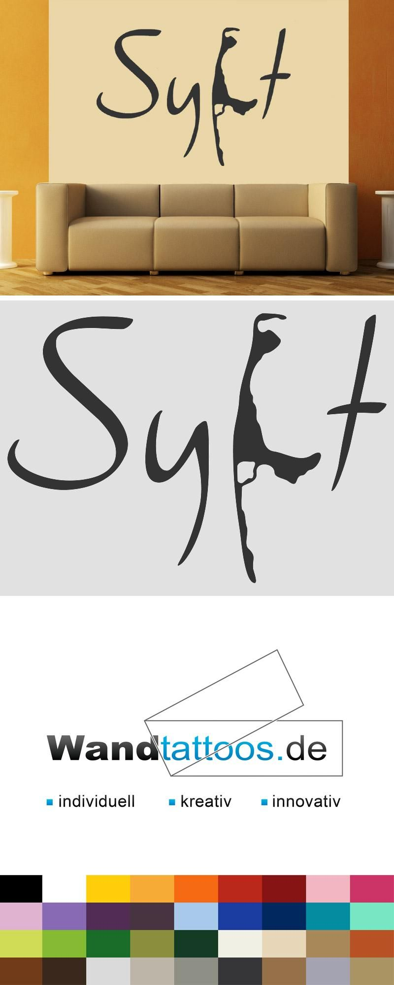 Wandtattoo Sylt mit Umriss der Insel | Pinterest | Wandtattoos, Sylt ...