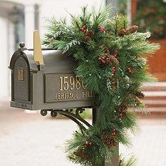 gold numbersletters on side of mailbox find this pin and more on christmas decor ideas - Christmas Mailbox Decorations Ideas