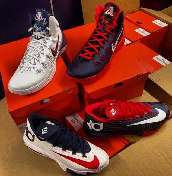 hyperdunk 2013 kd 6 wildcats Nike KD 6 + Hyperdunk 2013 Arizona Wildcats PEs