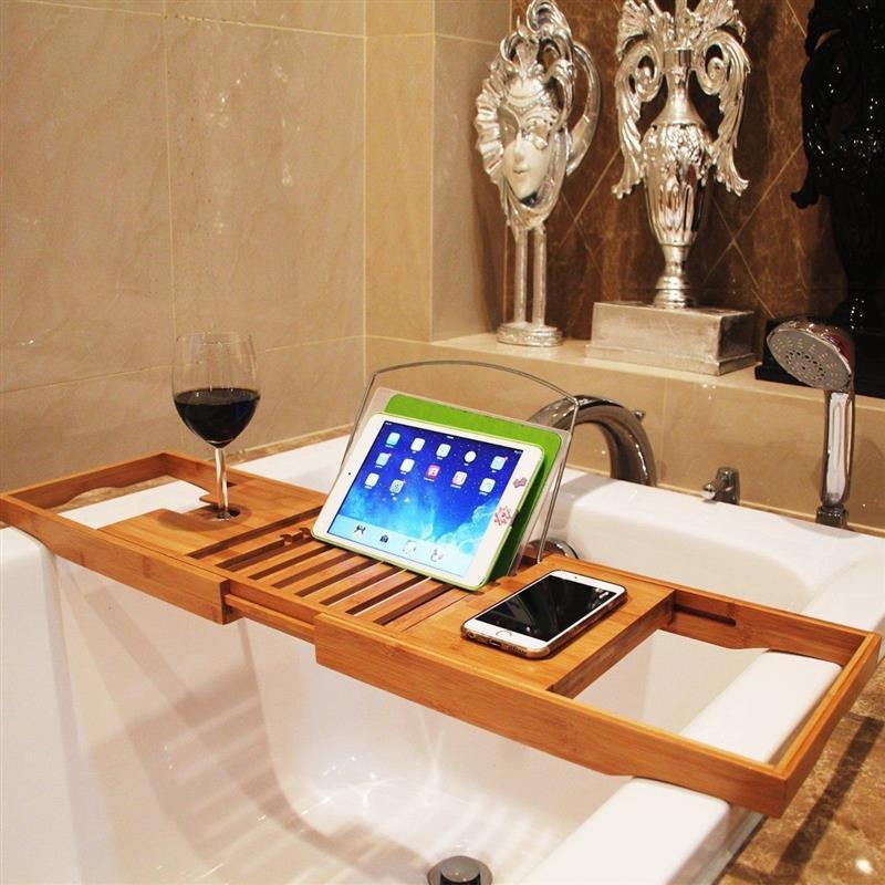 Bamboo Bath Tub Shower Tray Holder Adjustable | Bath tubs, Tubs and ...